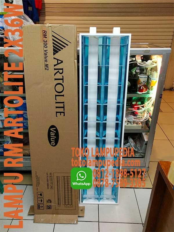 Jual Lampu Rm Artolite 2x36w Value 300 M2 Toko Lampupedia