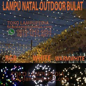 lampu natal bulat outdoor
