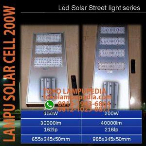 lampu jalan solar cell 150w