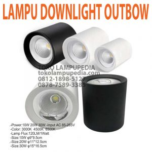 lampu downlight outbow